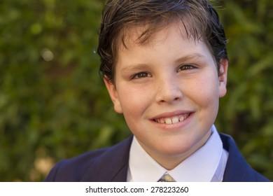 color portrait ten year old boy stock photo edit now 278223260