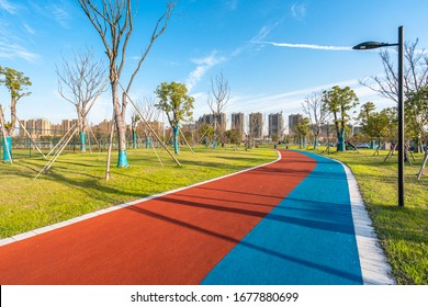 color running track in park