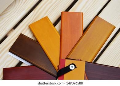 Color sampler of wood