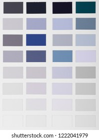Color samples palette catalog
