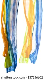color scarfs isolated on a white background