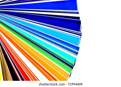 Color selection swatchbook isolated on white
