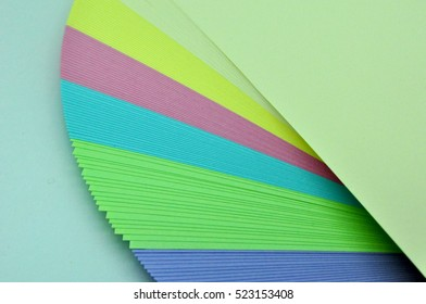 color sheets unfolded