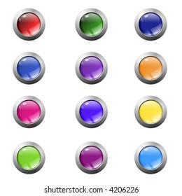 color shiny glass balls