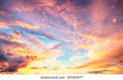 Color Sky only sunset sunrise