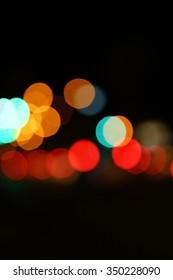 Color spark and blow natural bokeh in dark,blur soft focus