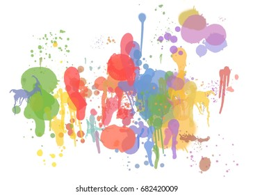 color splash abstract background with oil paint like texture