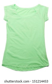 Color sport t-shirt, isolated on white