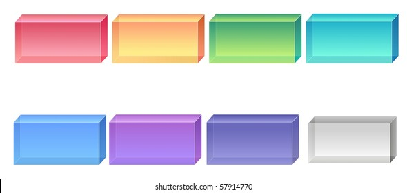 color square glass buttons for design
