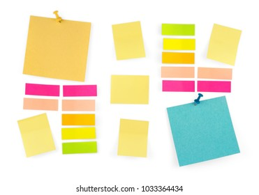 Color Stickers Set Isolated on White Background. Colorful Paper Label. Paper Adhesive Tape with Shadow.