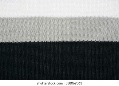 Color striped knitted texture