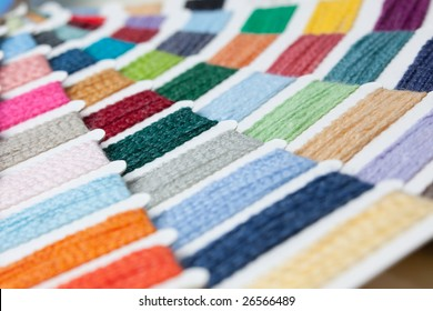 color swatches of lambs wool and acryll