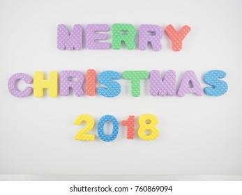 color text christmas