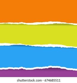 Color Torn Paper