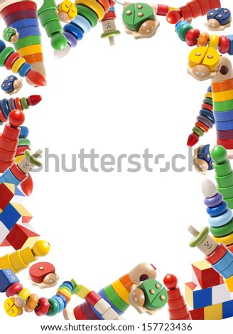 Color Toys Border On While Background Stock Photo Edit Now