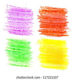 Color wax pencils background set