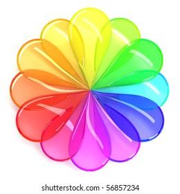 Flower Colour Wheel Images Stock Photos Vectors Shutterstock