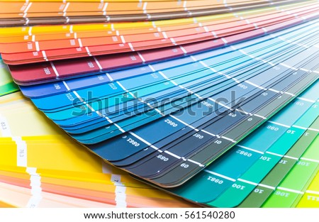 Color Wheel Choosing Paint Tone Stock Photo Edit Now 561540280