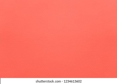 Color of the year 2019: Living Coral. Fashionable pantone trendy color of spring-summer 2019 season. Texture of colored paper for watercolor and pastel. Modern background or mock up with copy space