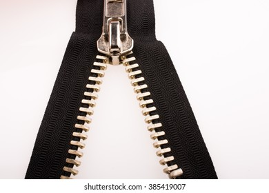 Color zipper on a white background
