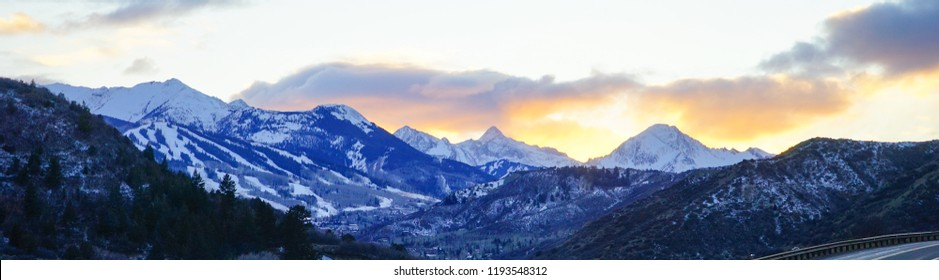Colorado Aspen and Snowmass winter landscape
