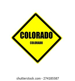 Colorado Black stamp text on yellow background