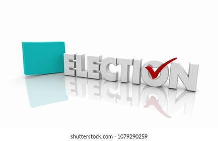Colorado CO Election Voting State Map Word 3d Illustration