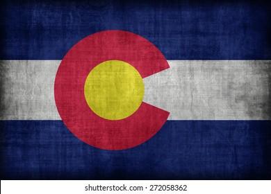 Colorado flag pattern, retro vintage style