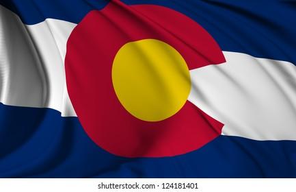 Colorado flag - USA state flags collection no_3