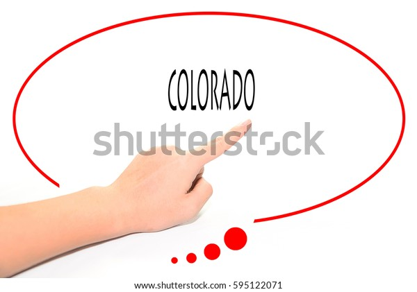 COLORADO -  Hand writing word to represent the meaning of Business word as concept.