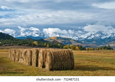 Colorado Hay Bales near Ouray and Telluride