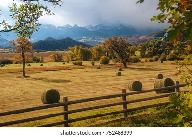 Colorado Hay Field near Telluride Colorado