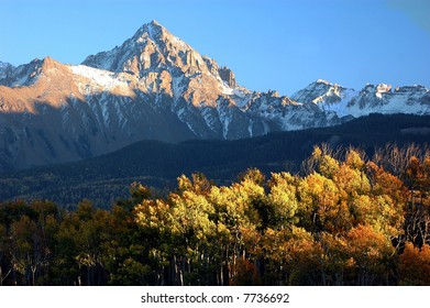 Colorado Landscape image of Mt. Sneffels a 14'er in the San Juan Mountains in autumn