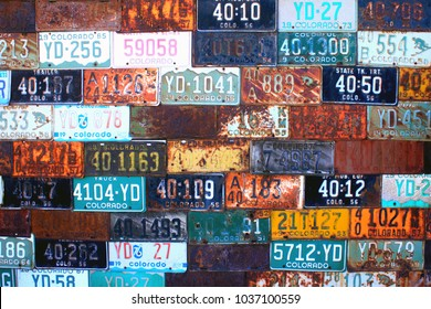 Colorado License Plate Wall