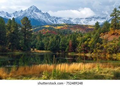 Colorado Mountain Pond with Mt. Sneffels