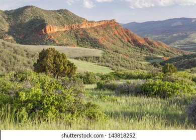 Colorado mountain ranch in early summer - Red Mountain Open Space near Fort Collins