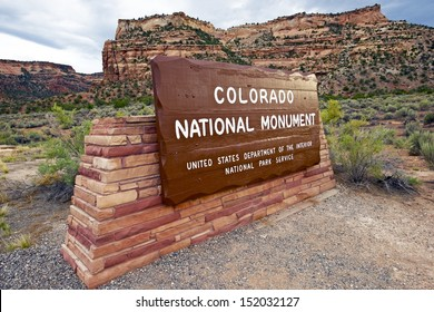 Colorado National Monument Entrance. State Park in Grand Junction, Colorado USA.