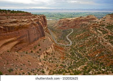 Colorado National Monument in Grand Junction, CO.  Canyon Road. Nature Beauty. Colorado Scenery. Colorado Photography Collection.