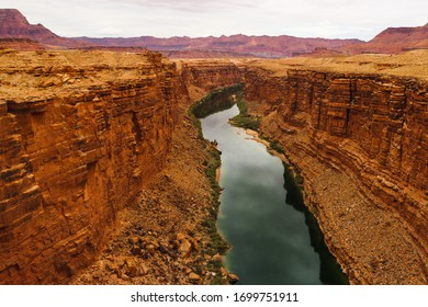 Colorado River Arizona USA Mountains Water Reflection Colors