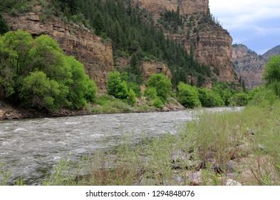Colorado river between mountains