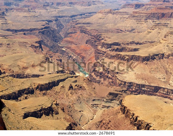 The Colorado River at the bottom of the Grand Canyon