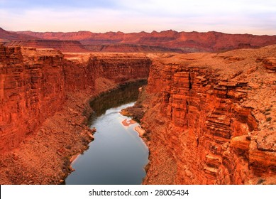 Colorado river and cliffs at Lee's Ferry Arizona
