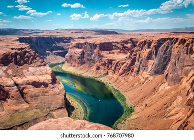 Colorado River. Grand Canyon National Park, the town of Page