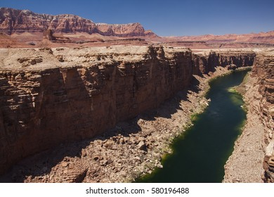 """Colorado River landscape (Spanish: Río Colorado, lit. """"colored"""", with an implication of reddish) is one of the principal rivers of the Southwestern United States and northern Mexico"""