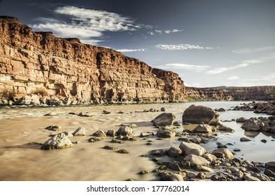 The Colorado River at Lees Ferry, Arizona