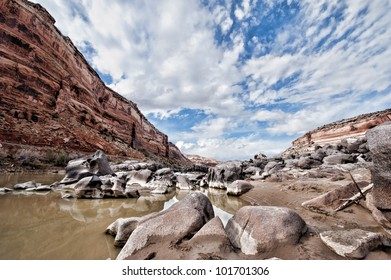 Colorado River scenic shot in HDR