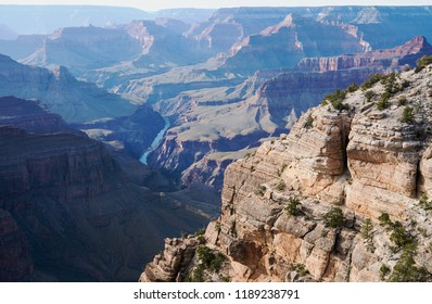 The Colorado River as seen from the South Rim of Grand Canyon