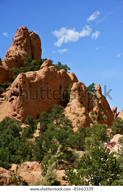 Colorado Rocks - Garden of the Gods. The Outstanding Geologic Features of the Garden of the Gods Park. Colorado, USA.