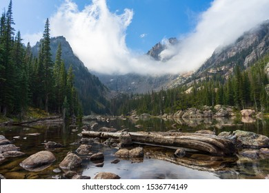 Colorado Rocky Mountain National Park, Dream Lake. Landscape photography for background, print, or screensaver use.