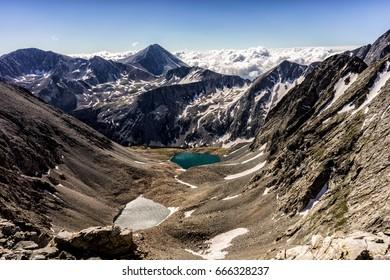 Colorado Rocky Mountains.  View of Mt. Lindsey in the Sangre de Cristo range of southern Colorado.